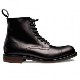 Nickelby II R Derby Boot in Black Coaching Calf Leather