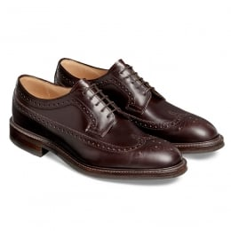 Oliver II R Long Wing Brogue in Burgundy Coaching Calf