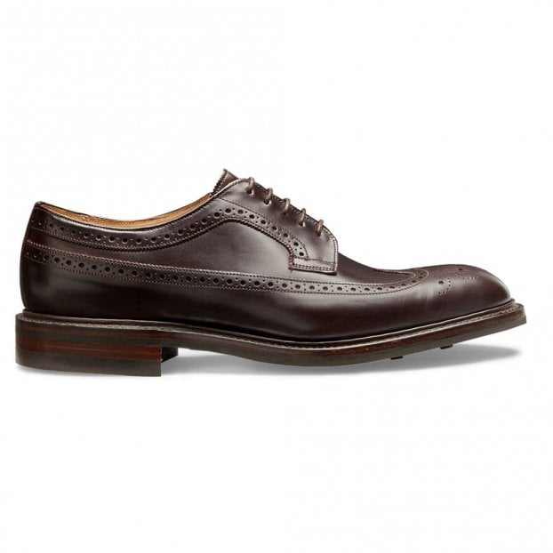 Cheaney Oliver II R Longwing Brogue in Burgundy Coaching Calf