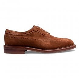 Oliver III R Longwing Brogue in Fox Suede
