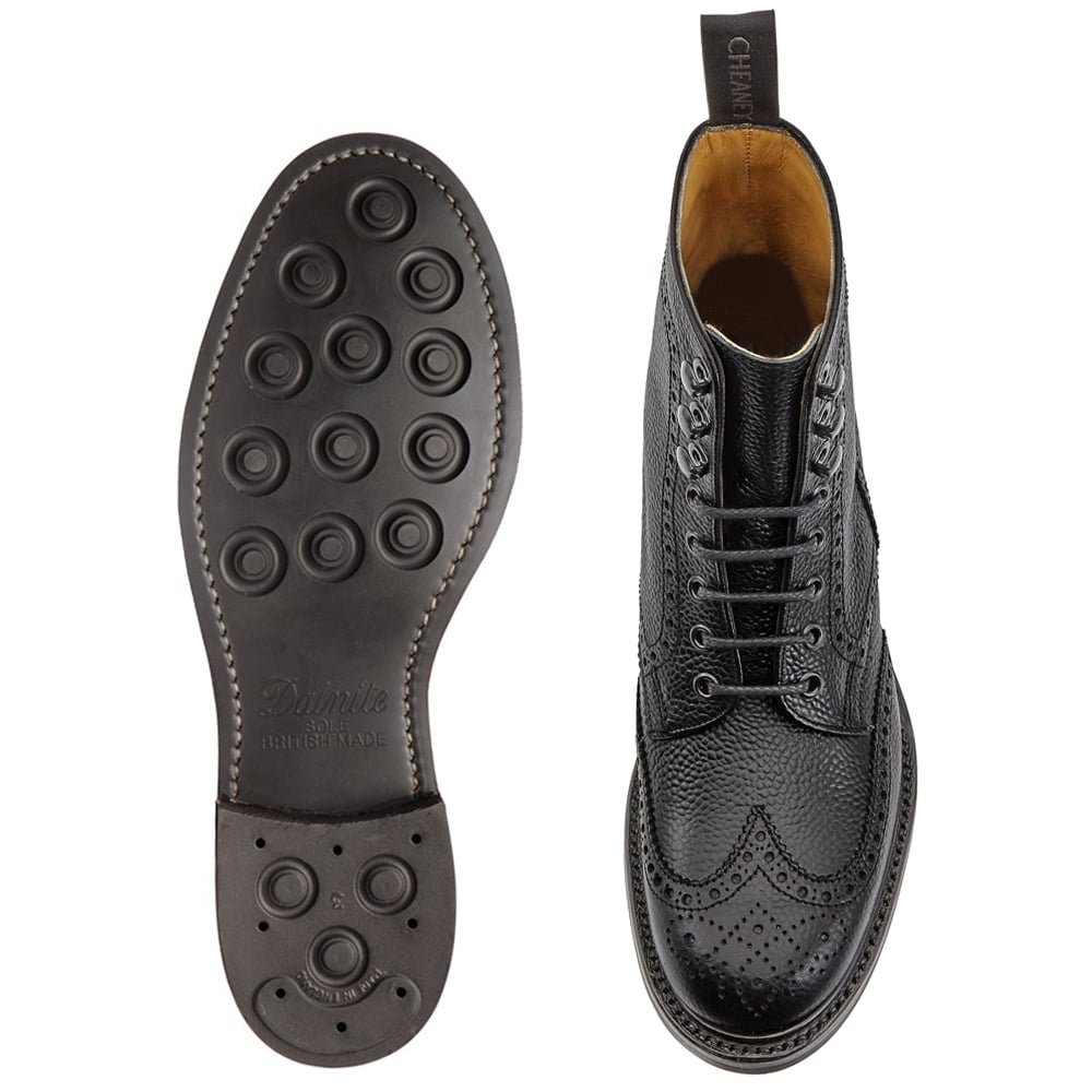 womens black leather brogue chelsea