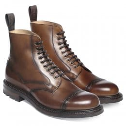 Orwell B Country Derby Boot in Conker Calf Leather