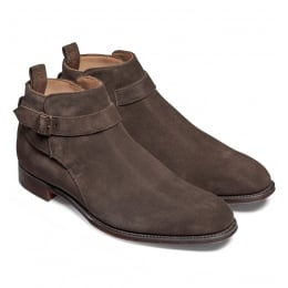 Oundle Single Buckle Jodhpur Boot in Brown Suede