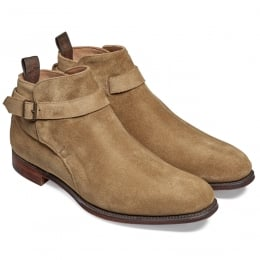 Oundle Single Buckle Jodhpur Boot in Tobacco Suede