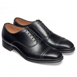 Overstone Oxford in Black Calf Leather