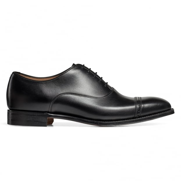 Cheaney Overstone Oxford in Black Calf Leather