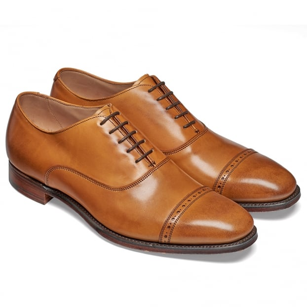 Cheaney Overstone Oxford in Chestnut Calf Leather