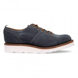 Peggy Monkey Shoe in Blue Waxy Suede