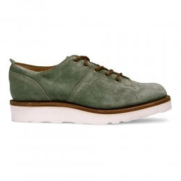 Peggy Monkey Shoe in Green Waxy Suede