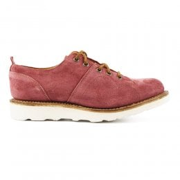 Peggy Monkey Shoe in Red Waxy Suede