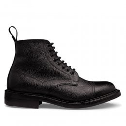 Penhill II R Derby Boot in Black Grain Leather
