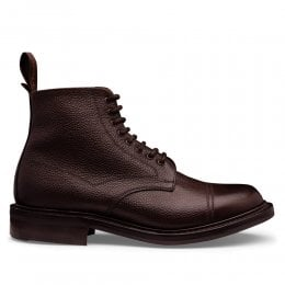 Penhill II R Derby Boot in Walnut Grain Leather