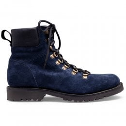Penny Hiker Boot in Navy Suede