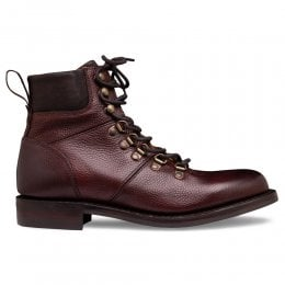 Penny R Hiker Boot in Burgundy Grain Leather