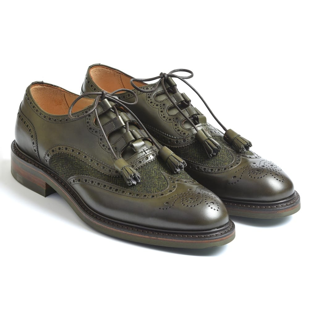 Cheaney Pitlochry Green Scottish Brogue Shoe Hand Made