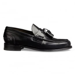 Polly Ladies Loafer in Black Hi-Shine Leather