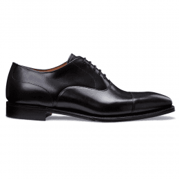 Redmond Capped Oxford in Black Calf Leather