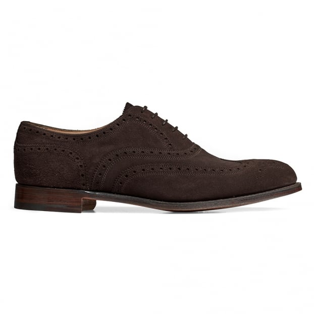 Cheaney Regent II Oxford Brogue in Brown Soft Suede