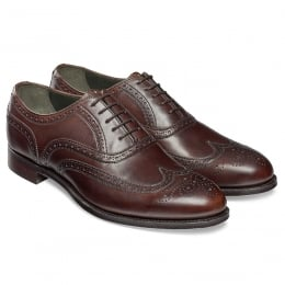 Regent Oxford Brogue in Mocha Calf Leather