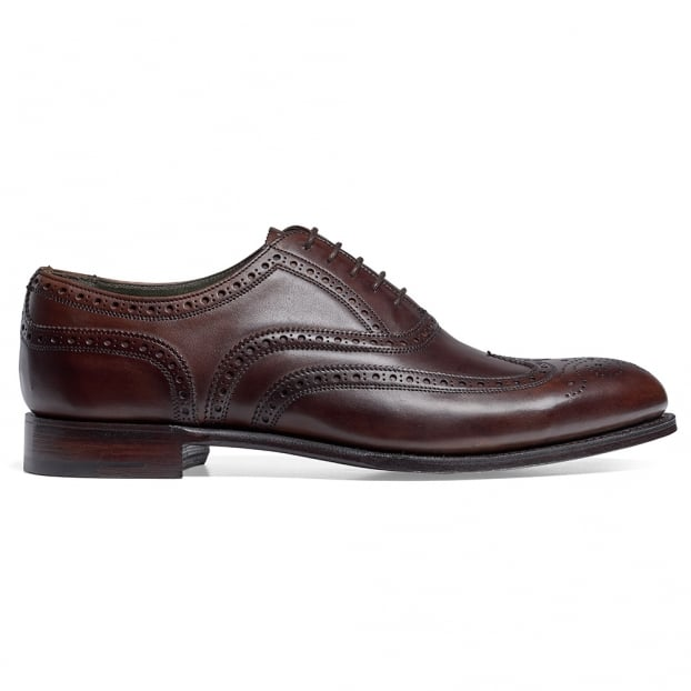 Cheaney Regent Oxford Brogue in Mocha Calf Leather