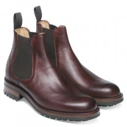 Ribble C Veldtschoen Chelsea Boot in Burgundy Grain Leather