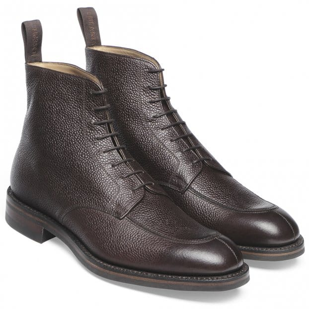 Cheaney Richmond R Derby Boot in Walnut Grain Leather