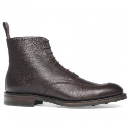 Richmond R Derby Boot in Walnut Grain Leather