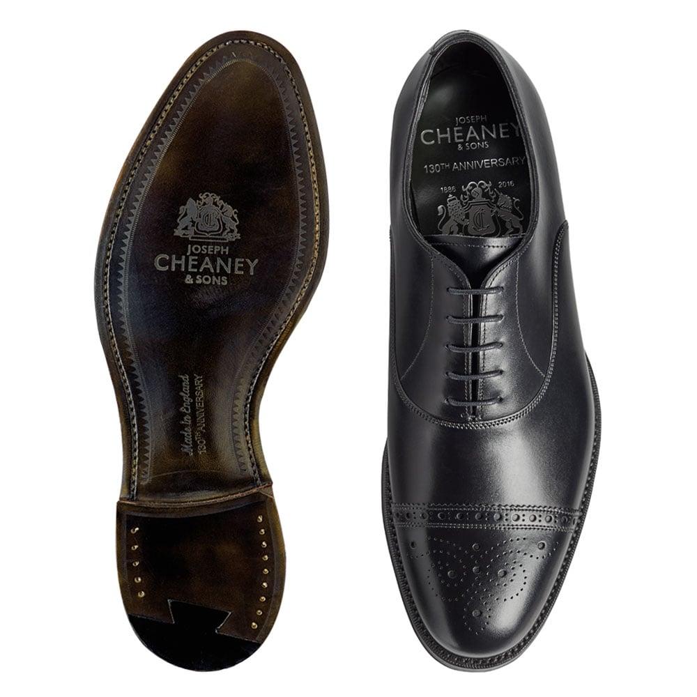 Cheaney Rushton | Men's Black Leather