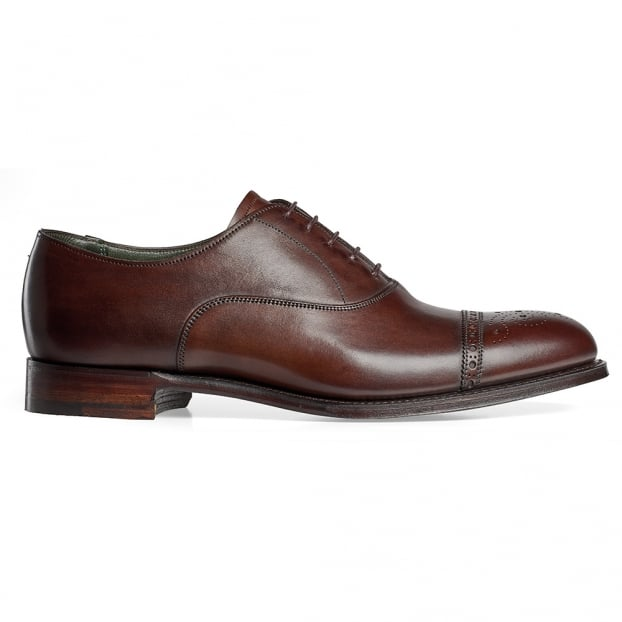 Cheaney Rushton Oxford Semi Brogue in Mocha Calf Leather