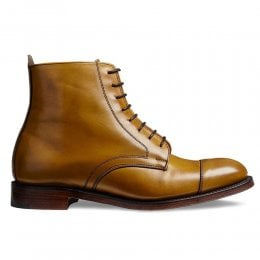 Sadie Derby Cap Boot in Original Chestnut Calf Leather