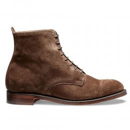Sadie Derby Cap Boot in Plough Suede