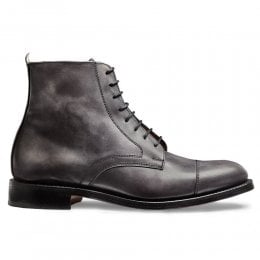 Sadie Ladies Derby Cap Boot in Charcoal Calf Leather
