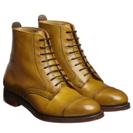 Sadie Ladies Derby Cap Boot in Original Chestnut Calf Leather