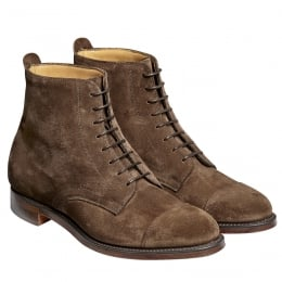 Sadie Ladies Derby Cap Boot in Plough Suede