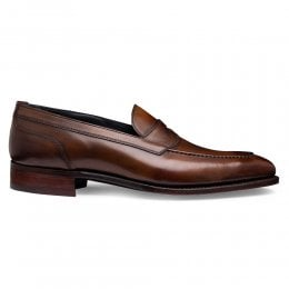Saxon Saddle Loafer in Bronzed Espresso Calf Leather