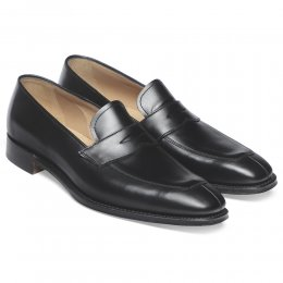 Soho Penny Loafer in Black Calf Leather