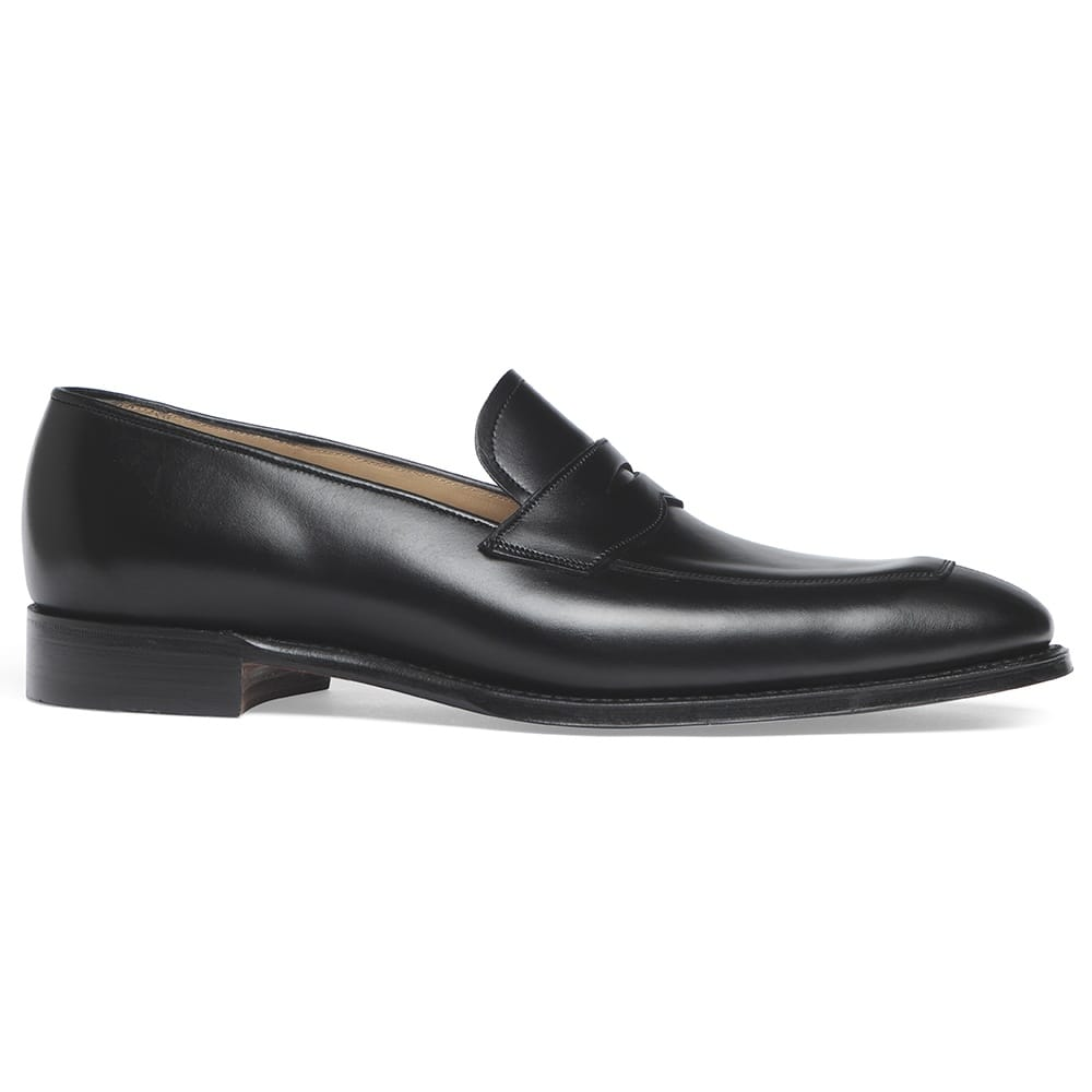 34d12655539 Soho Penny Loafer in Black Calf Leather
