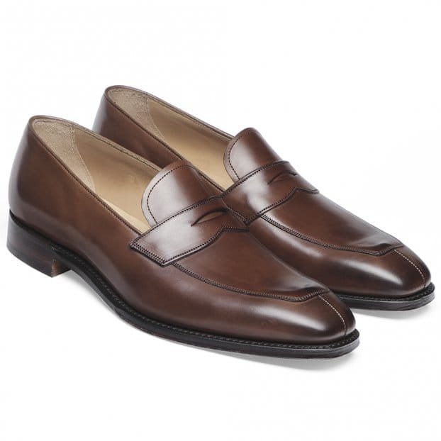 Cheaney Soho Penny Loafer in Conker Calf Leather