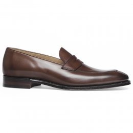 Soho Penny Loafer in Conker Calf Leather