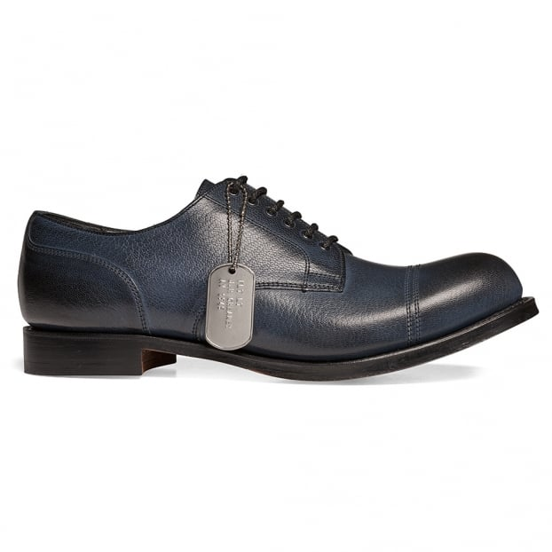 Cheaney Spitfire II Military Style Derby in Navy Goat Skin