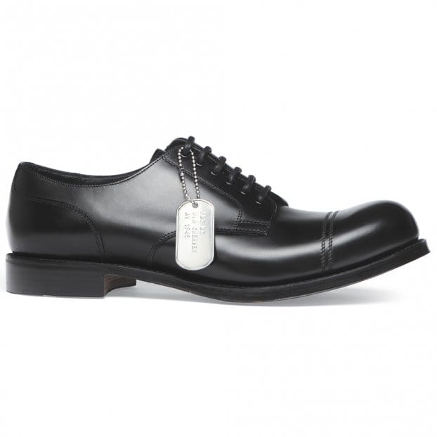 Cheaney Spitfire R Military Style Derby in Black Calf Leather | Dainite Rubber Sole