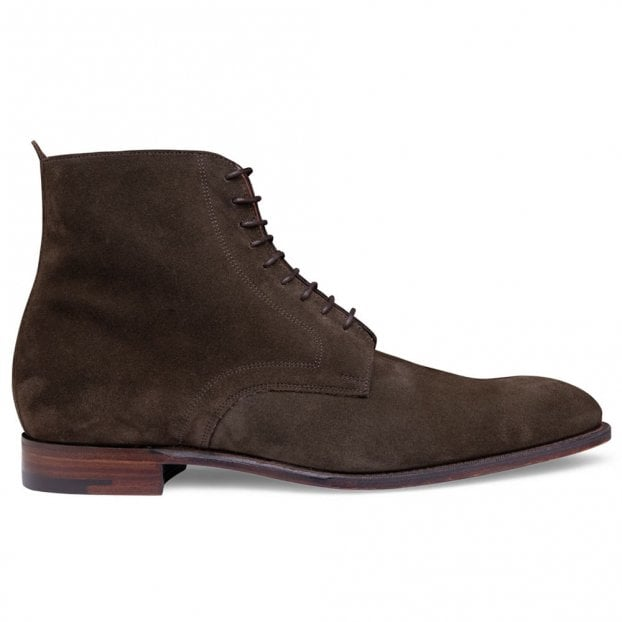 Cheaney Sutton Derby Boot in Khaki Suede