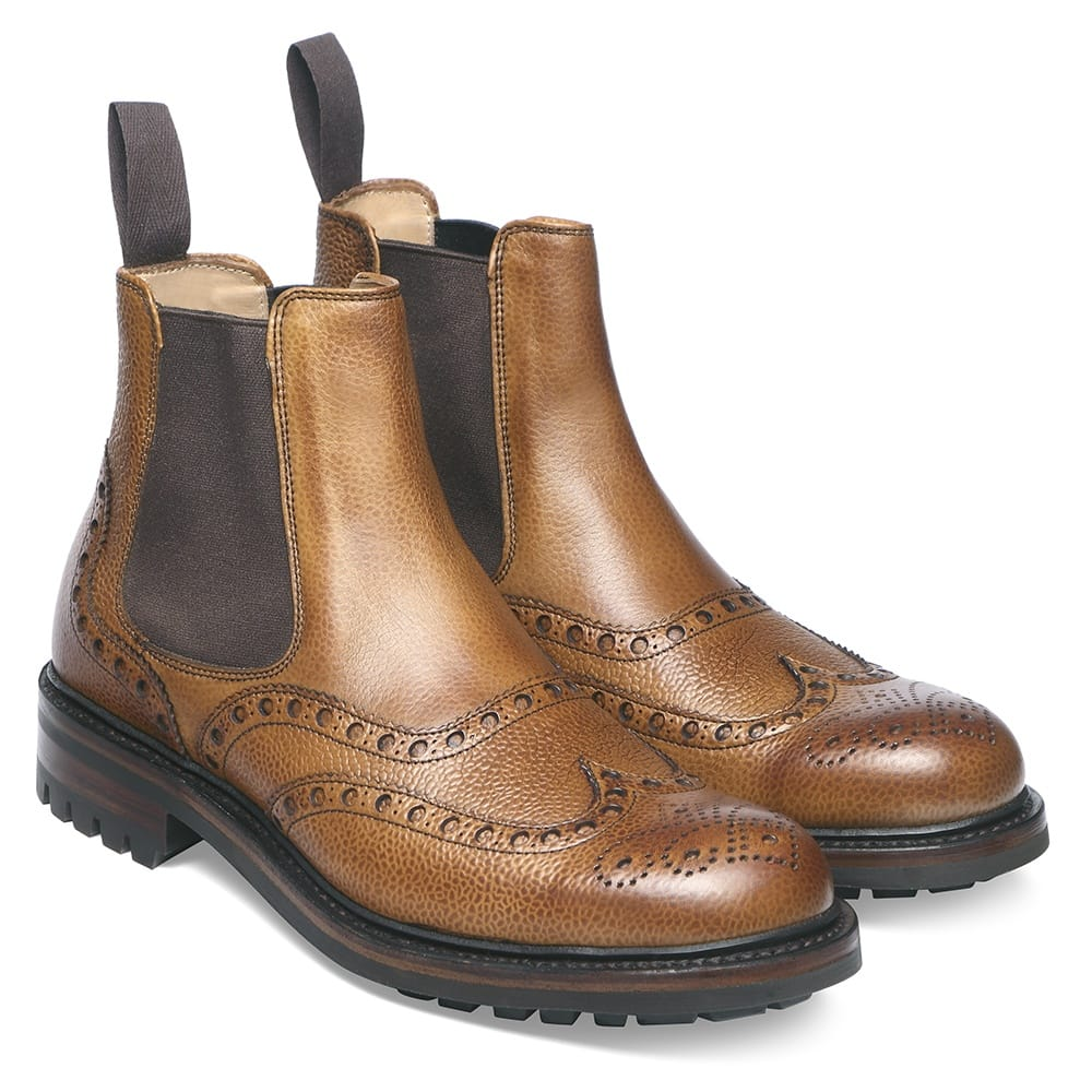 cheaney tamar c men 39 s tan leather chelsea boot made in england. Black Bedroom Furniture Sets. Home Design Ideas