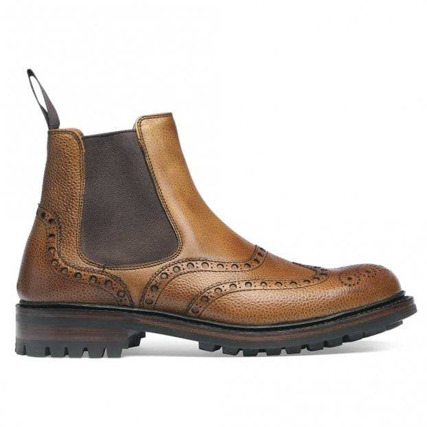 Cheaney Tamar C Chelsea Boot in Almond Grain Leather