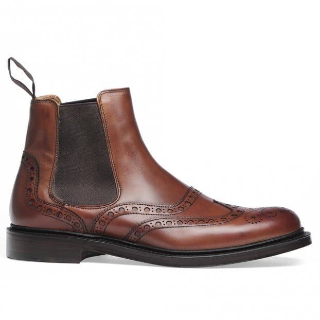 Cheaney Tamar R Chelsea Boot in Dark Leaf Calf Leather