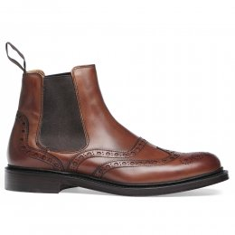 Tamar R Chelsea Boot in Dark Leaf Calf Leather