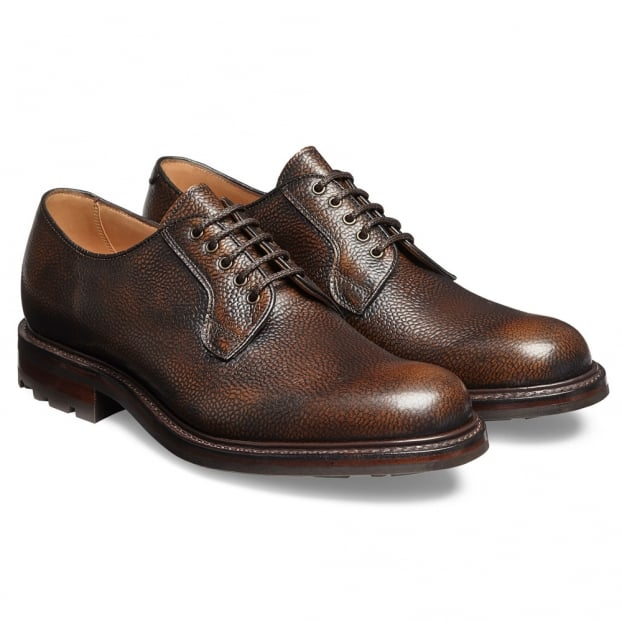 Cheaney Teign II B Derby in Bronze Rub Off Grain Leather