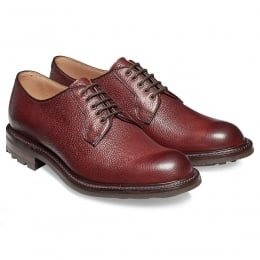 Teign II B Derby in Burgundy Grain Leather