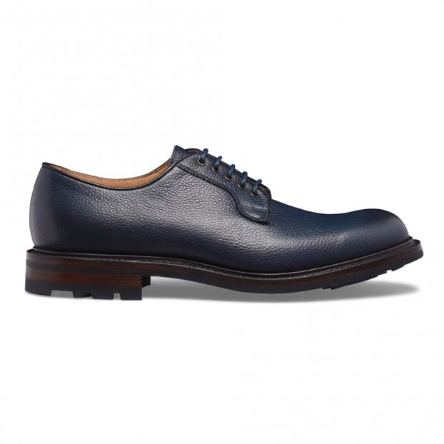 Cheaney Teign II Derby in Navy Grain Leather