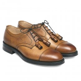 Thomas Capped Derby in Almond Grain Leather